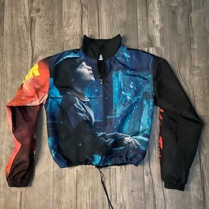 Stranger thing thick wind breaker crop top